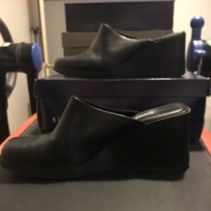 Shoes - Black block wedges never worn
